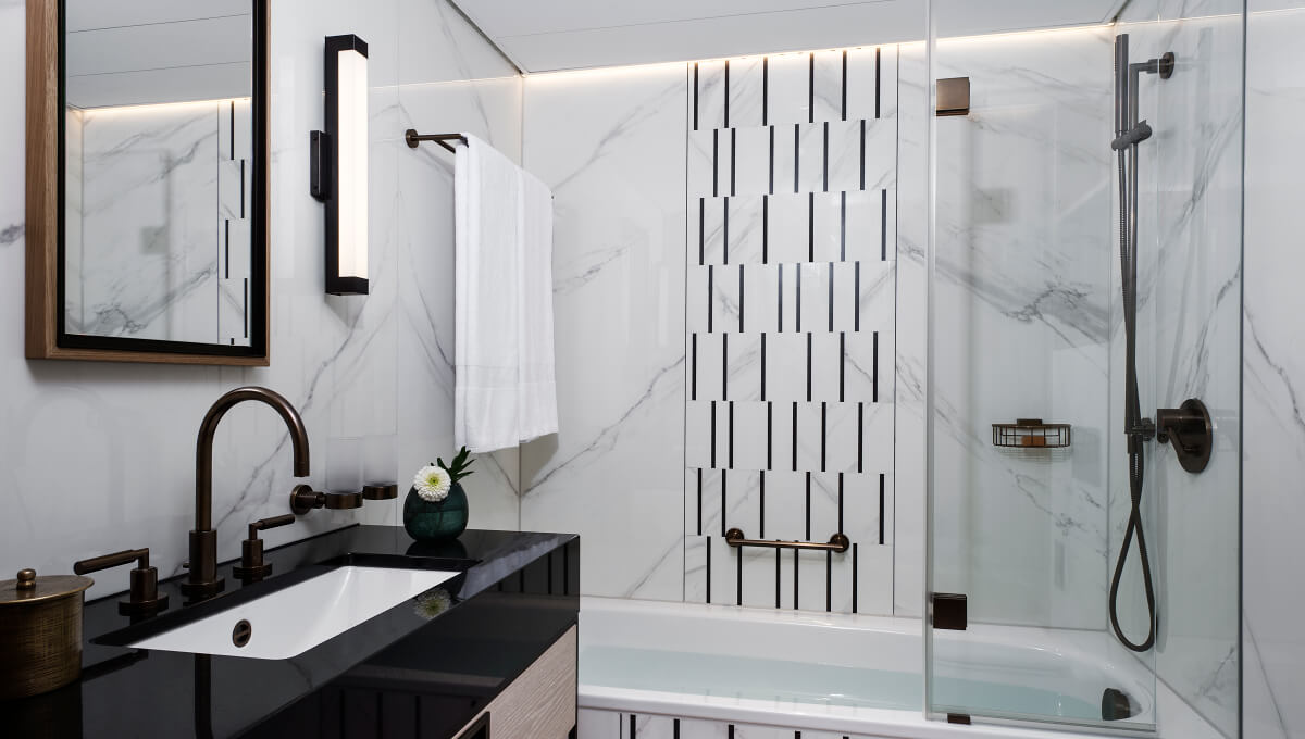 Dornbracht Bathroom Hotel Storchen Tara black