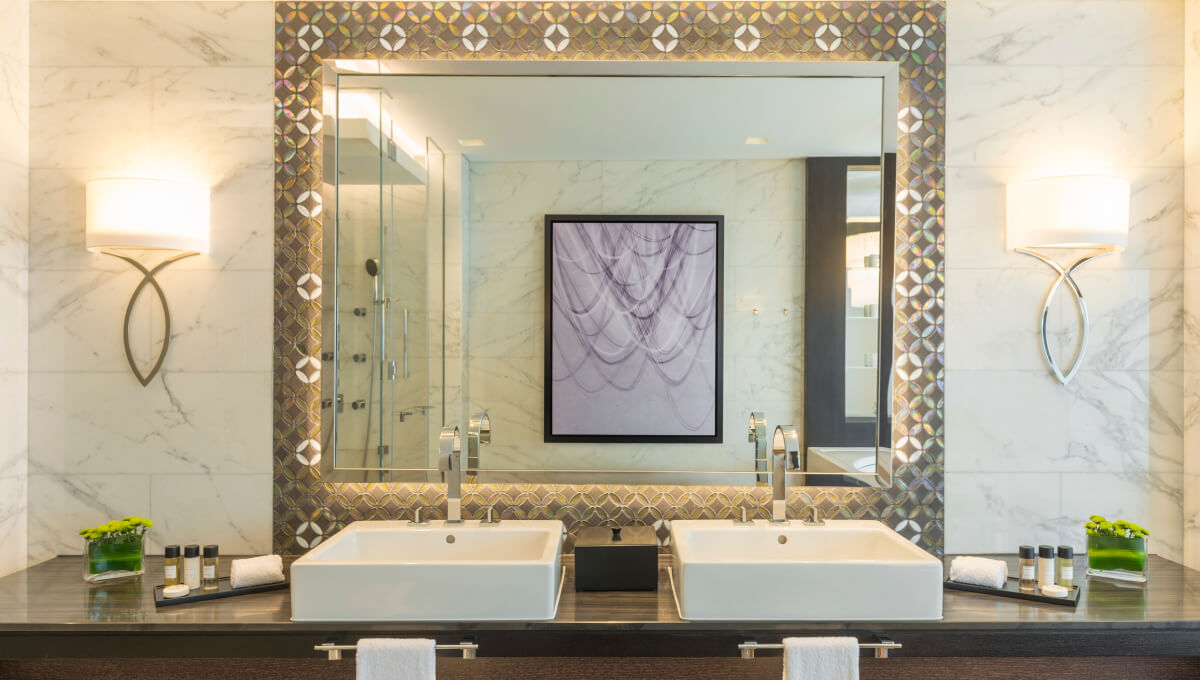 Dornbracht Mem Reference luxury bathroom Sheraton grand hotel