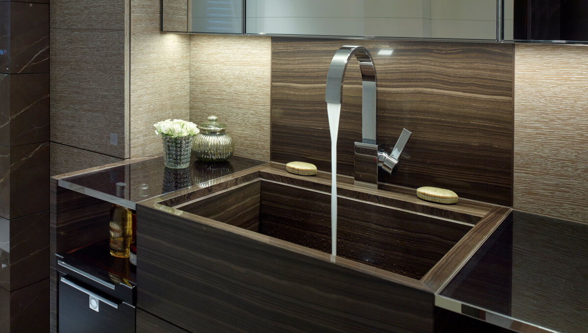 Dornbracht Mem Reference luxury bathroom Yacht Aysa