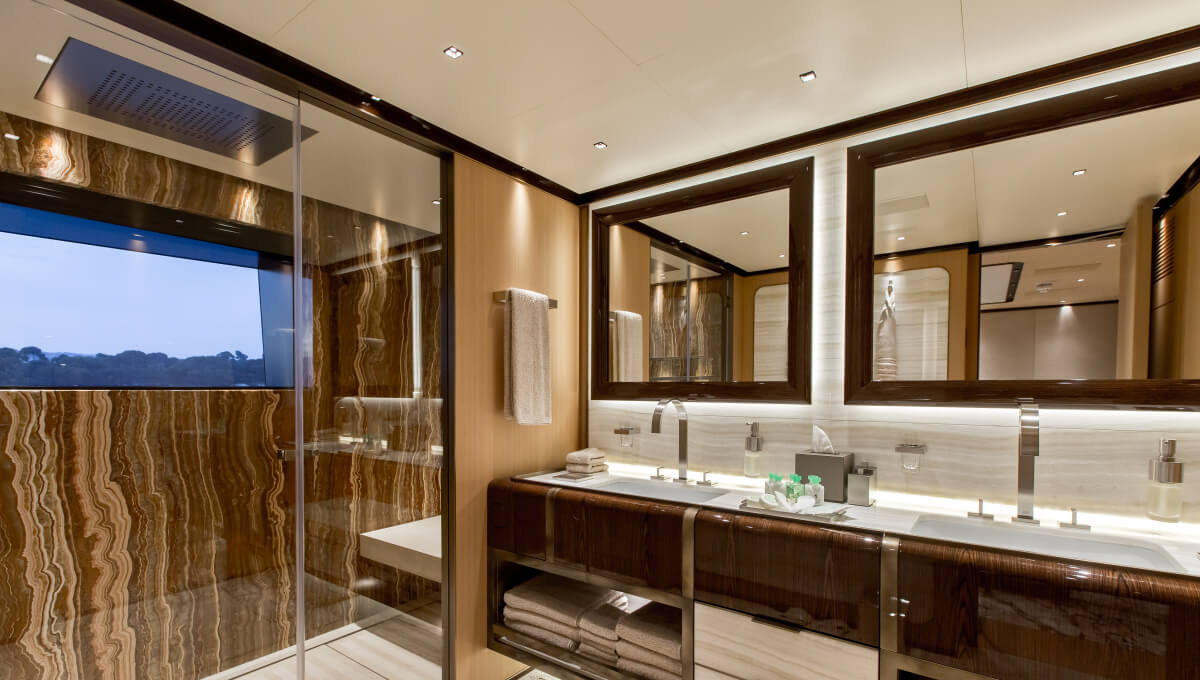 Dornbracht Mem Reference luxury bathroom Yacht MY Vertige