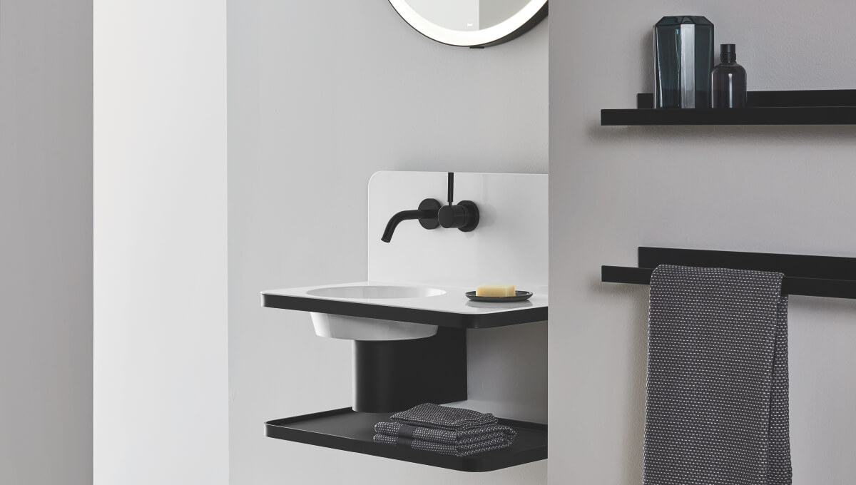 dornbracht black faucet bathroom inspiration