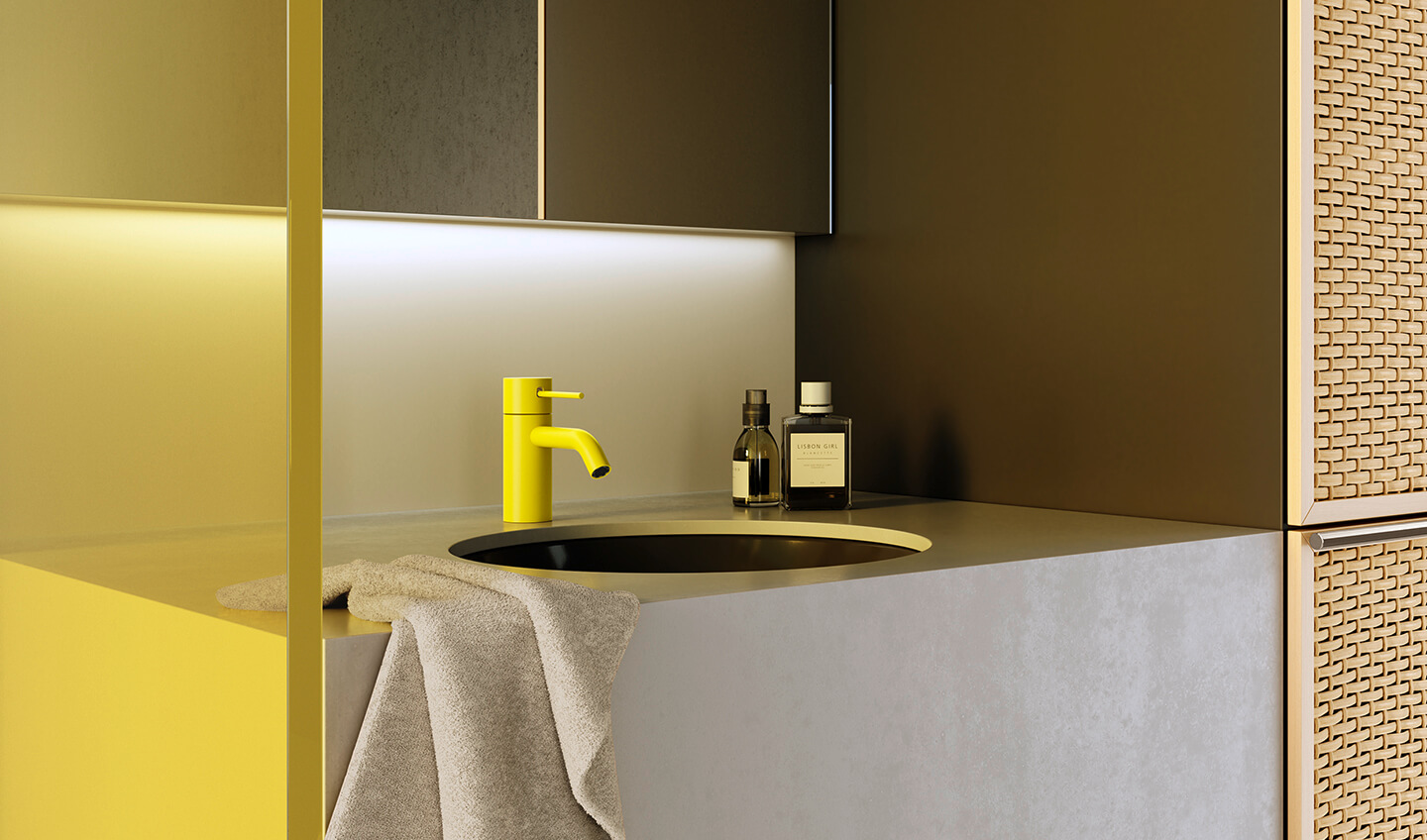 Dornbracht Meta Slim Yellow Bathroom Inspiration 3