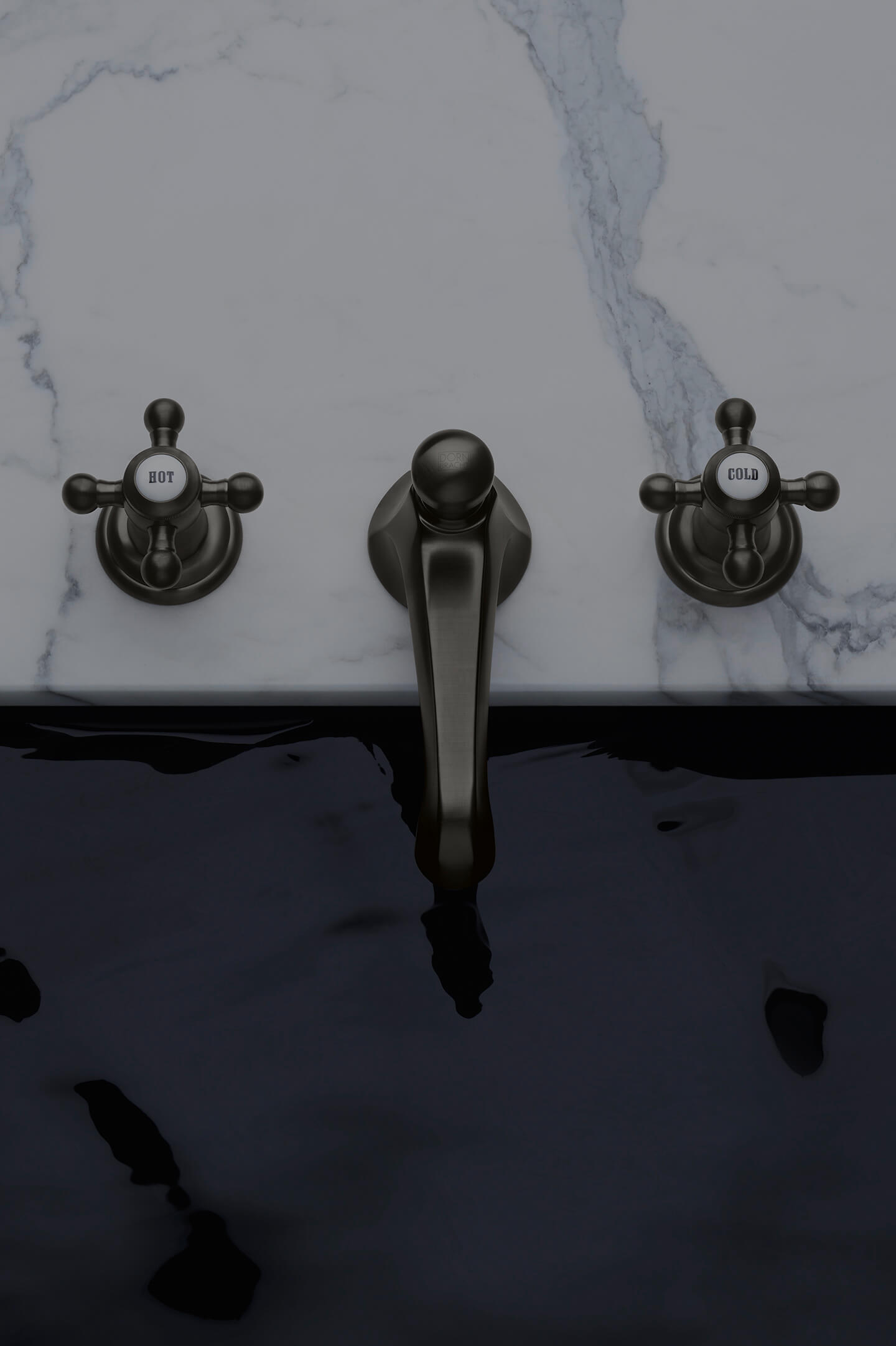 Dornbracht Madison Dark Platinum matte Luxury Bathroom Inspiration