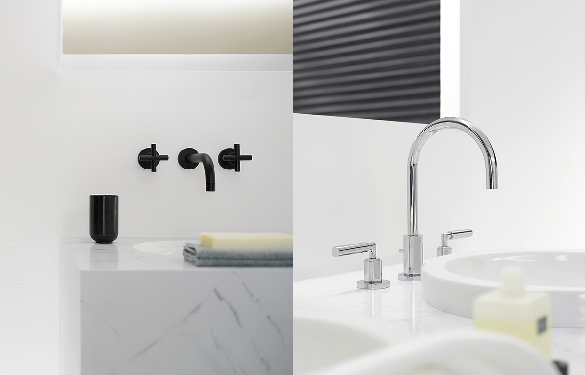 Dornbracht Tara Black Matte Chrome Bathroom Inspiration