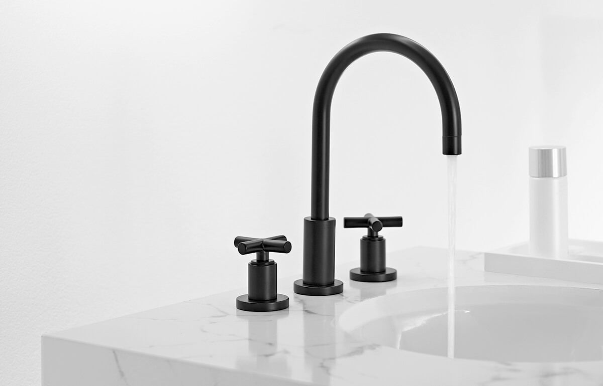 Dornbracht Tara Matte Black Bathroom Inspiration 1