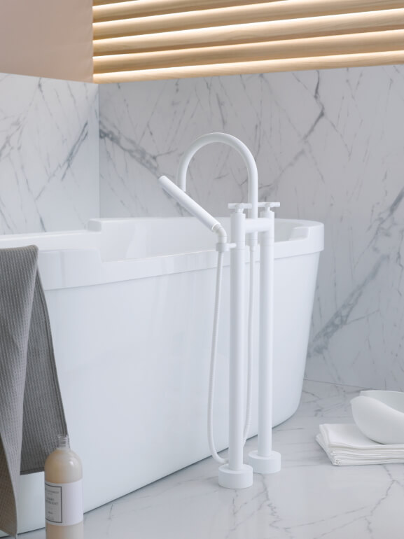 Dornbracht Tara White Bathroom Inspiration