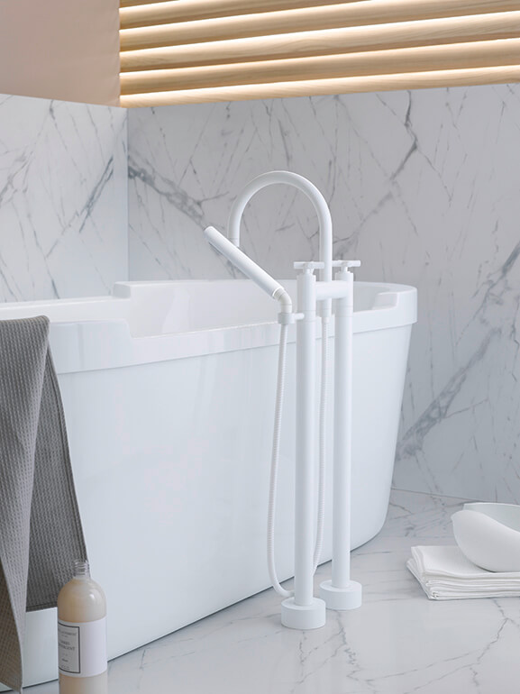 Dornbracht Tara White Matte Bathroom Inspiration 1
