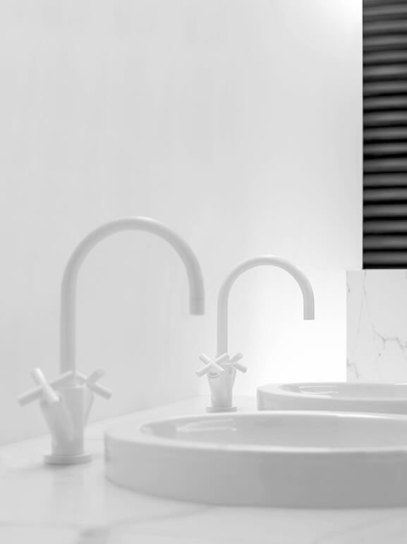 Dornbracht Tara White Matte Bathroom Inspiration 2