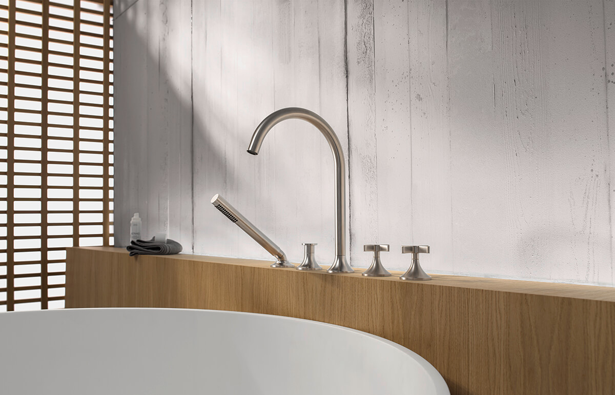 Dornbracht Vaia Platinum Matte Bathroom Inspiration 4