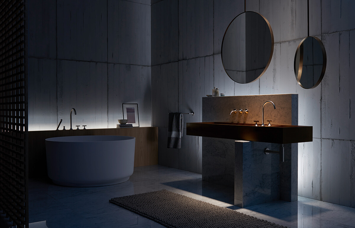 Dornbracht Vaia Platinum Matte Bathroom Inspiration 7