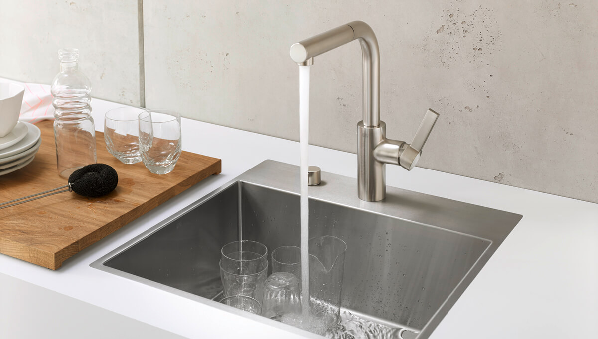 Dornbracht Brushed stainless steel sink Kitchen Inspiration