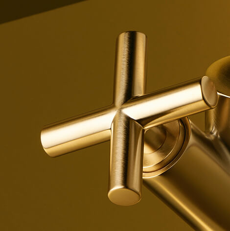 Dornbracht Tara Brushed Brass Bathroom Inspiration1