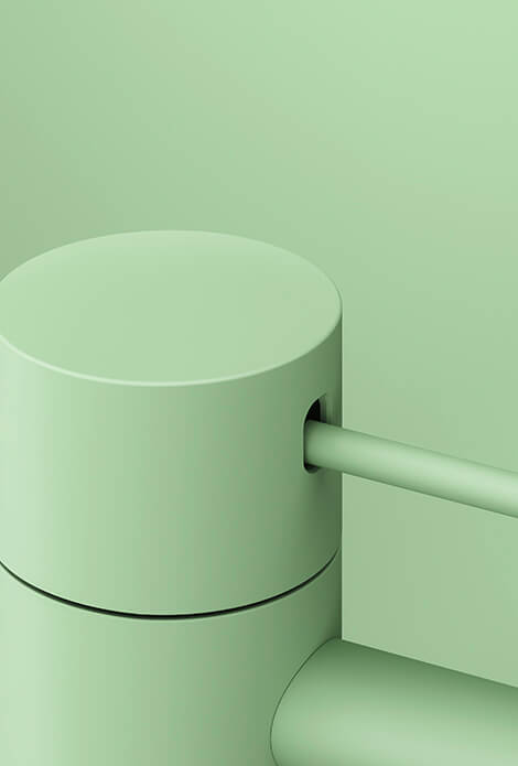 Dornbracht Meta Slim Pastel Green Bathroom