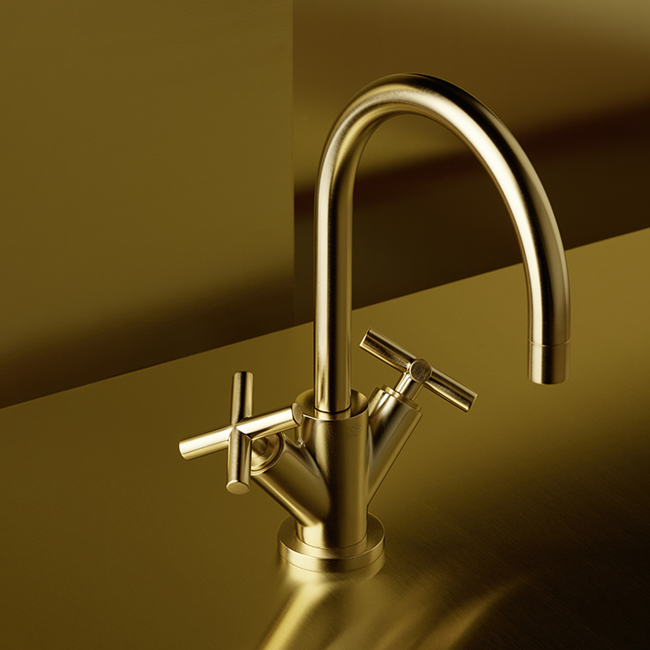 Dornbracht Tara Brushed Durabrass Bathroom Inspiration
