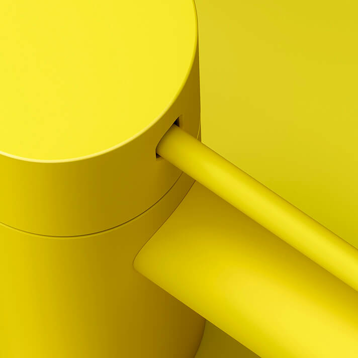 Dornbracht Meta Slim  Yellow Bathroom Inspiration