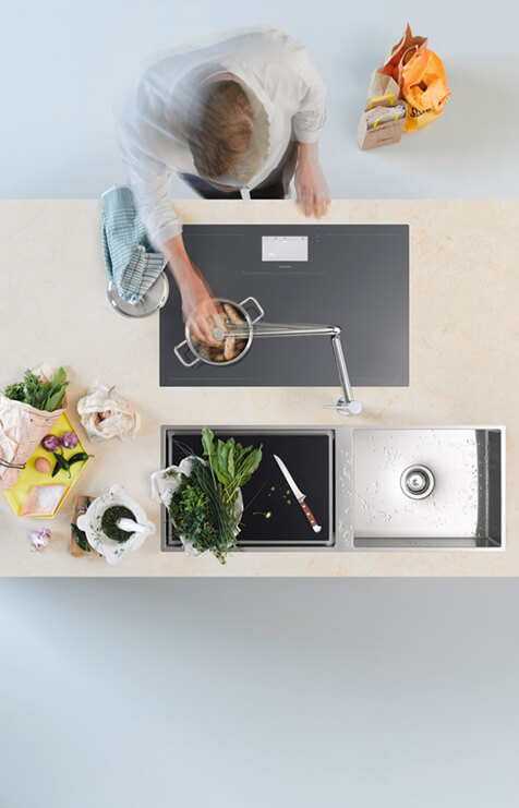 Dornbracht Tara Ultra Pivot chrome Kitchen Inspiration