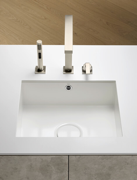 Dornbracht Glazed steel sink white matte Kitchen Inspiration