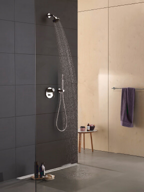 Dornbracht Modern Shower Meta02 chrome Luxury Bathroom Inspiration