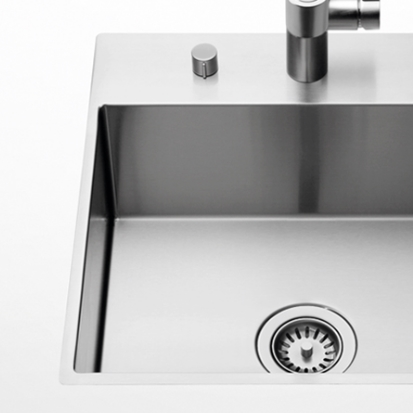 Dornbracht Kitchen brushed steel sinks
