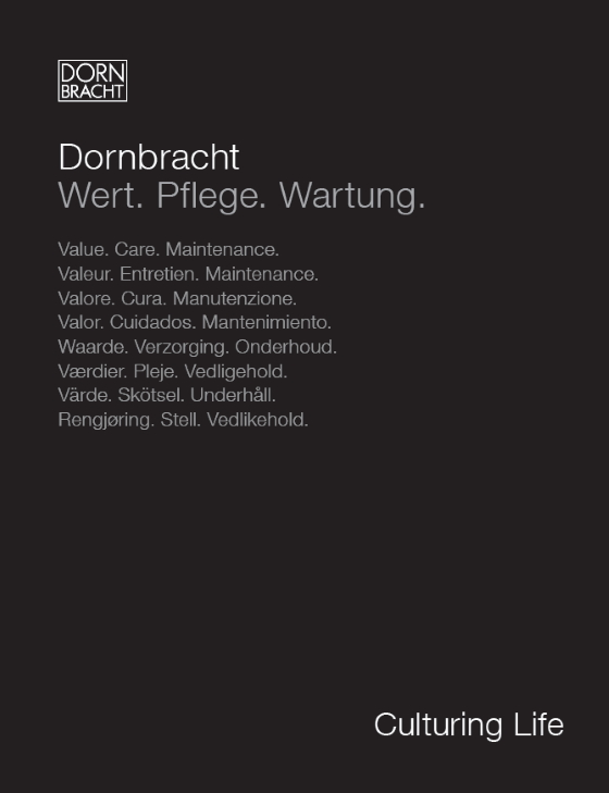 Dornbracht Care Instructions