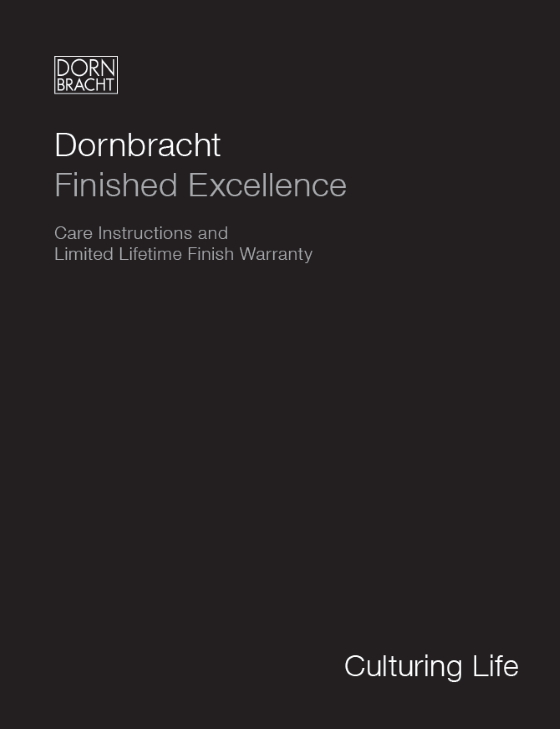Dornbracht Care Instructions US