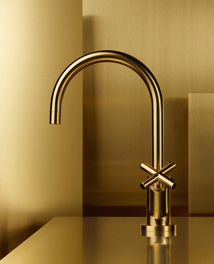 Dornbracht Tara Brushed Brass Bathroom Inspiration