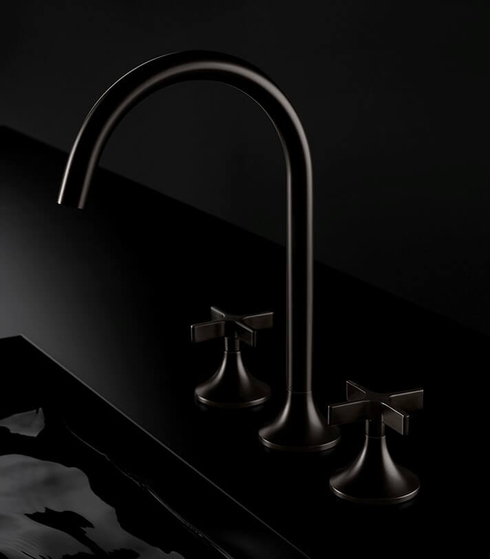 Dornbracht Vaia Dark Platinum matt Bathroom Inspiration Luxury